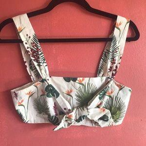 Zara Tropical Crop Top